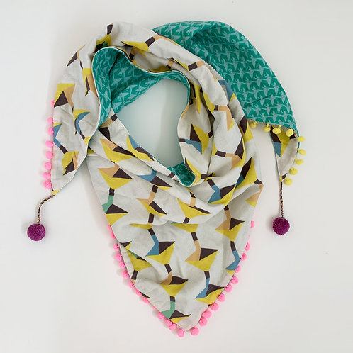 Abacus Triangle Scarf