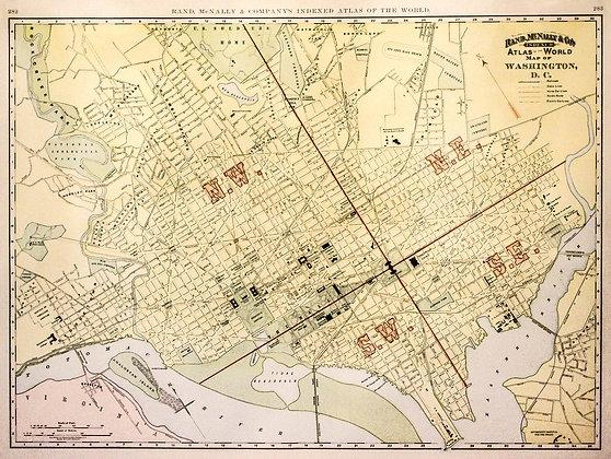 Map of Washington, D.C.