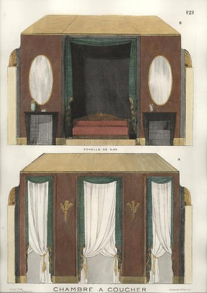 Plate 121: Chambre a Coucher