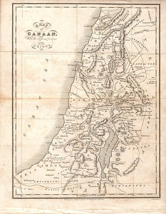 A Map of Canaan, with portions of the Tribes