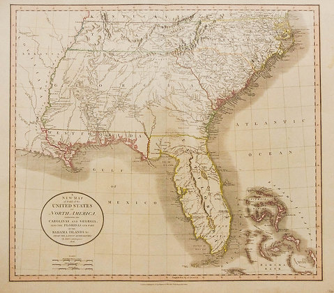 Map of the Southeastern Coastal States