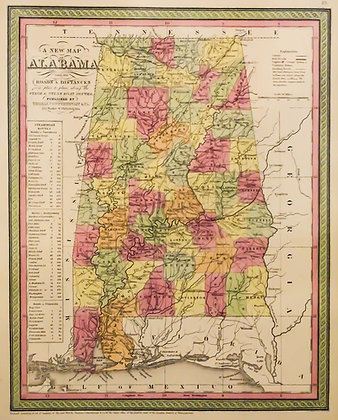 Alabama with its Roads Along the Steamboat Routes