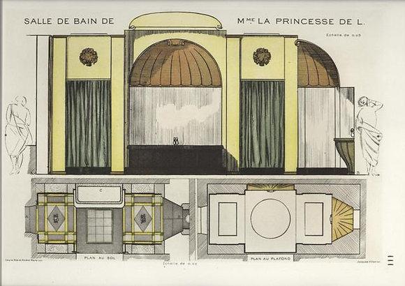 Plate 111: Salle de Bain de Mme. la Princesse de L