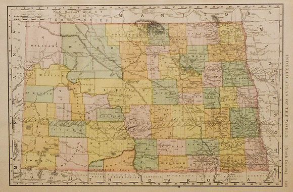 Rand McNally's North Dakota
