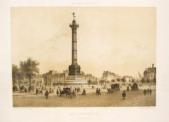Place de la Bastille. Monument de Juillet.