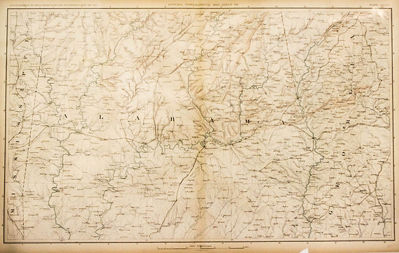 Civil War Map of Central Alabama