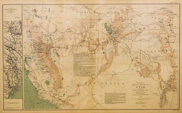 Civil War Map of Utah and the Western Territories