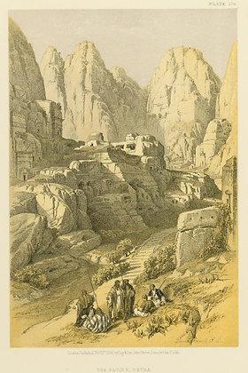 Plate 104 : The Ravine, Petra