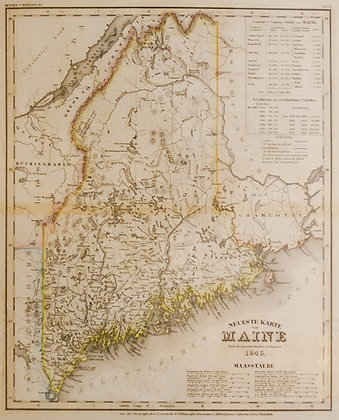 Neueste Karte von Maine