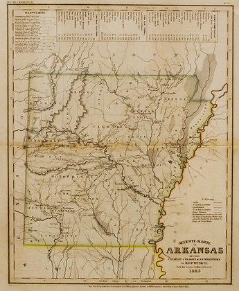 Neueste Karte von Arkansas