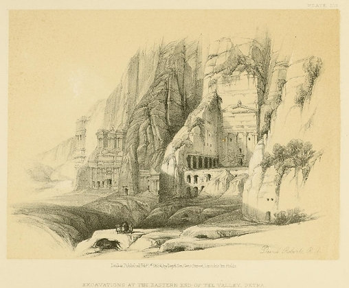 Plate 103 : Excavations of the East Valley, Petra
