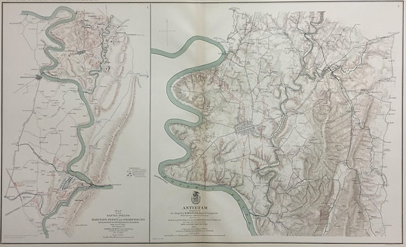 Map of the Battle-fields of Harper's Ferry