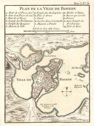 Plan de la Ville de Boston