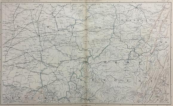 Ohio, Pennsylvania, West Virginia, Kentucky