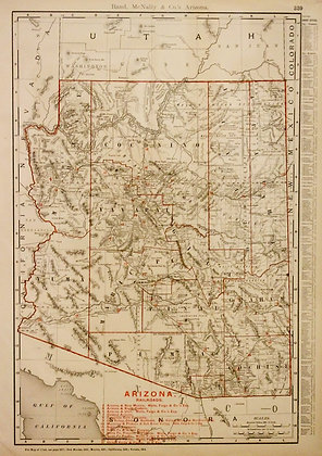 Rand, McNally & Co.'s Arizona (with Railroads)