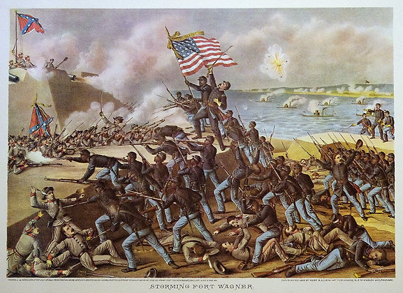 Storming Fort Wagner.