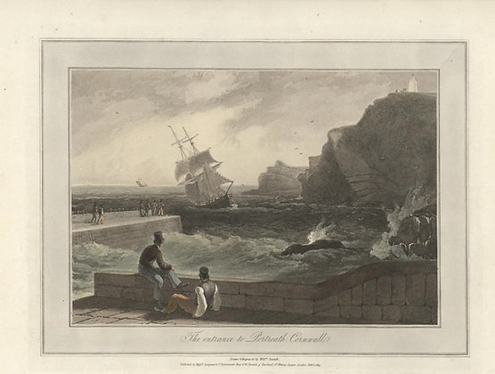 Plate 02: The Entrance to Portreath. Cornwall