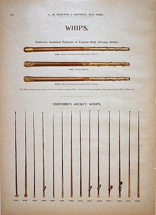 Plate 144: Ashford's Driving and Jockey Whips