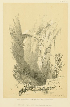 Plate 95 : The Arch Across The Ravine, Petra
