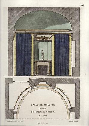 Plate 109: Salle de Toilette Ovale de Madame