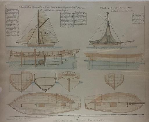 Bateau pilote du Havre et chalutier de Trousville,