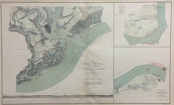 Map of the Defenses of Charleston City and Harbor