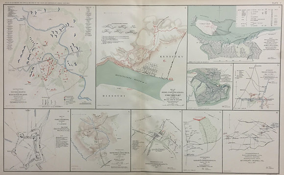 Map of the Rebel Fortifications at Columbus KY