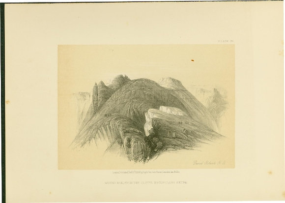 Plate 99 : Mount Hor, from Cliffs Encircling Petra