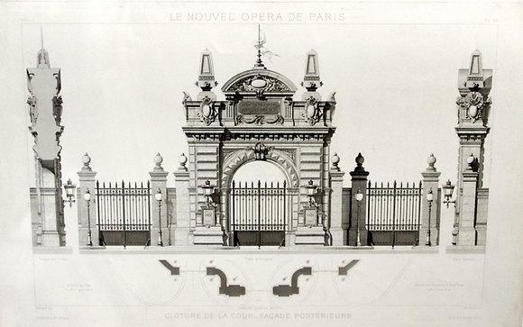 Cloture de la Cour-Facade Posterieure Le Nouvel Op