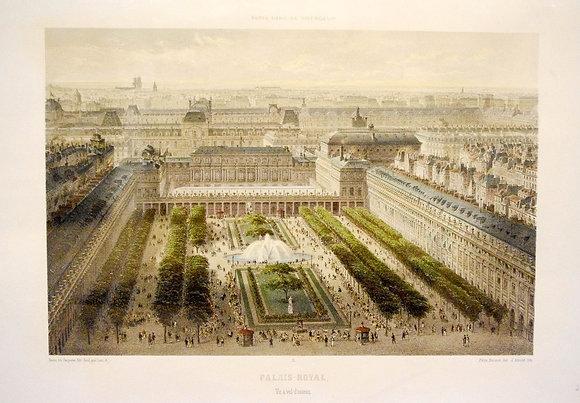 Palais-Royal. Vu � vol d'oiseau.
