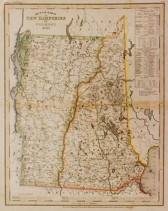 Neueste Karte von New Hampshire und Vermont