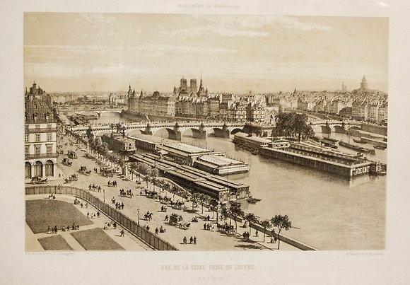 Vue de la Seine. Prise du Louvre.