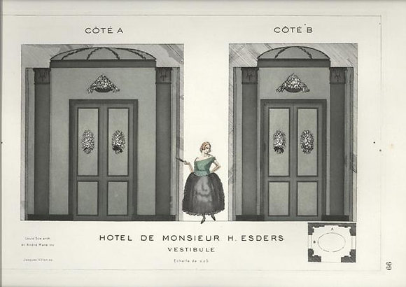 Plate 99: Hotel de Monsieur H. Esders Vestibule