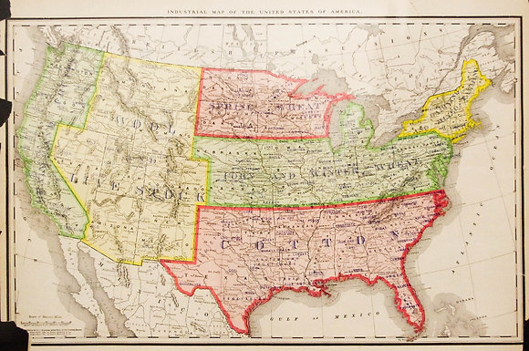 Industrial Map of the United States of America