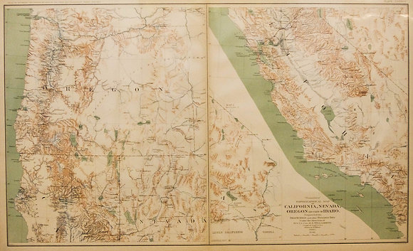 """Essayons"" Civil War Map of CA, NV, OR, and ID"