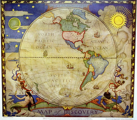 Maps of Discovery : E. and W. Hemispheres