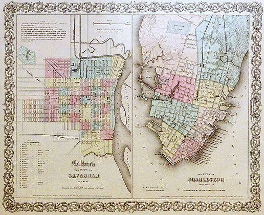 Colton's City of Savannah and City of Charleston