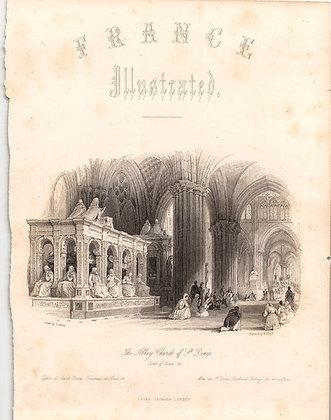 THE ABBEY CHURCH OF ST. DENIS (V.1 Vignette Title)