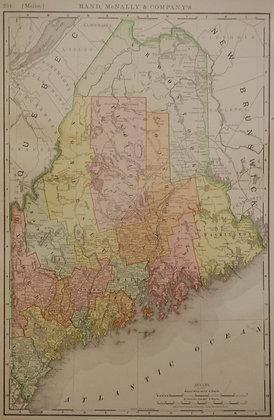 Rand, McNally & Co.'s Maine