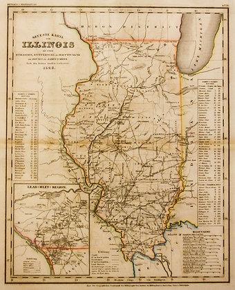 Neueste Karte von Illinois