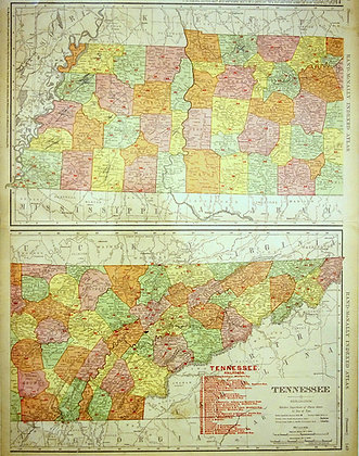 Rand McNally & Co.'s Tennessee (with Railroads)