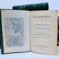 Scott, Sir Walter. The Waverley Novels 9 Volumes Hardback, green cloth $60.00