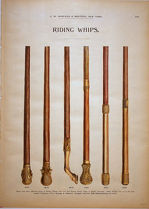 Plate 145: Styles of English Riding Whips