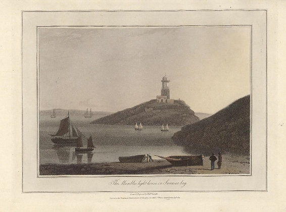 Plate 13: The Mumbles light-house in Swansea bay