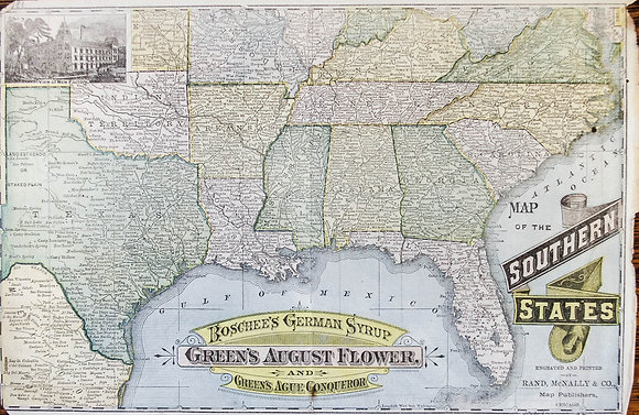 Boschee's and Green's Map of the Southern States