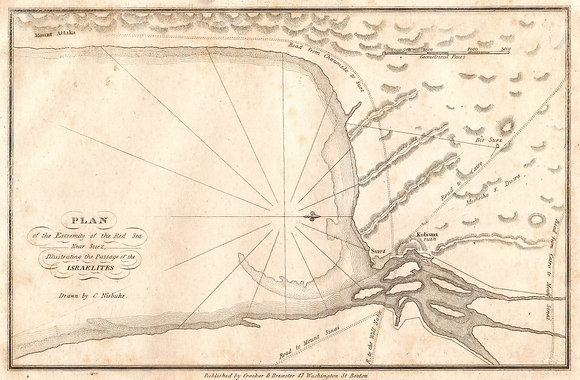 Plan of the Red Sea / Passage of the Israelites
