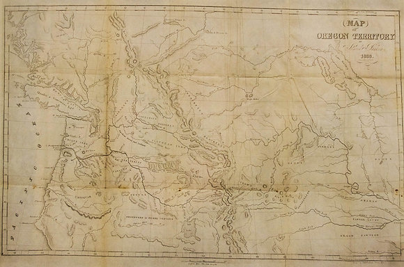Map of Oregon Territory