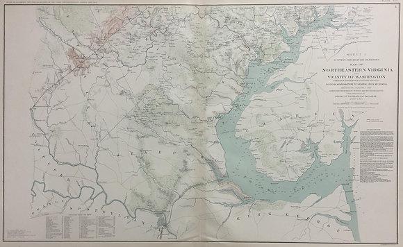 Map of Northeastern Virgina and Vicinity of Washin