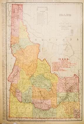 Rand, McNally & Co.'s Idaho (with Railroads)