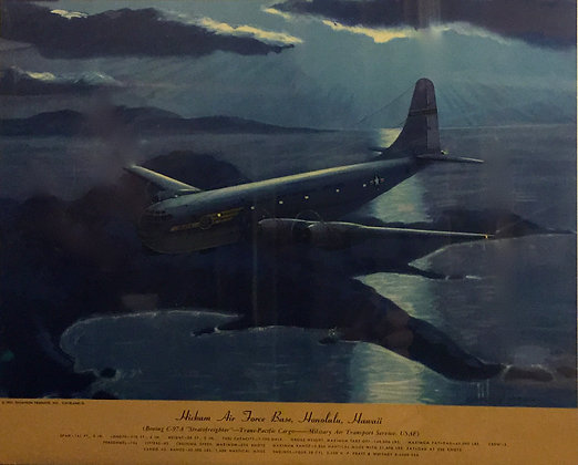 """Boeing C-97A """"Stratofreighter"""": Hickam AFB, Hawaii"""